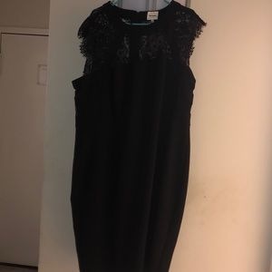 Beyond Ashley Graham black formal dress
